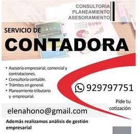 CONTADOR, Estados Financieros.