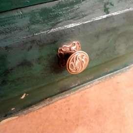 Antiguo Cajón De Almacén Pinotea Pintada