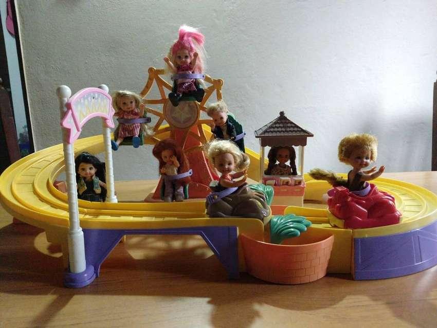 Barbie, Parque de Diversiones de Kelly. Usado Original (Sin Muñecos)