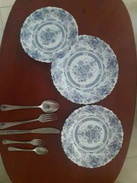 Vajilla arcopal 36 platos y juego de cubiertos 48 piezas