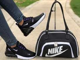 Calzado Nike 720 Dama con Bolso. Tallas del 35 al 40.