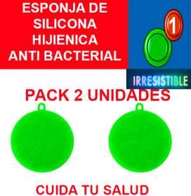 ESPONJA DE SILICONA HIGIÉNICA ANTI BACTERIAL