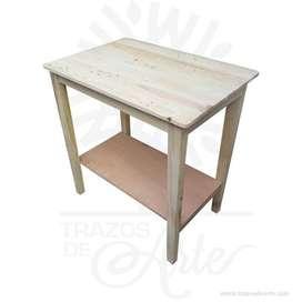 Mesa rectangular en pino con tarima entrega en crudo – Precio COP