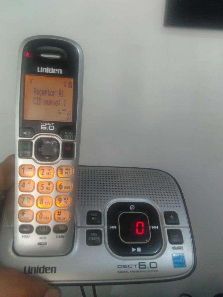 TELEFONO INALAMBRICO CONTESTADORA Y GRABADORA altavoz 0