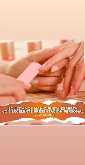 Peluquería en el norte solicita manicurista experta en uñas esculpidas enviar fotos de trabajos realizados