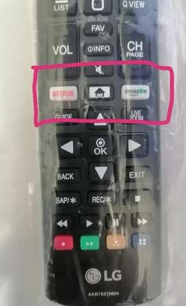 Control remoto LG Modelo AKB75375604 Versión2020. Acceso Directo a Netflix y Amazon!!