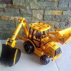 Carro excavadora amarillo negro