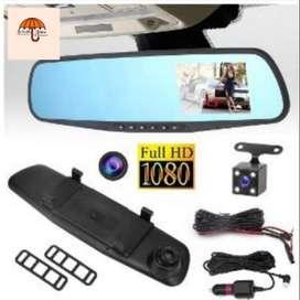 ESPEJO RETROVISOR 1080P DOBLE CAMARA CARRO FULL HD
