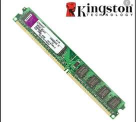 VENDO MEMORIA RAM DDR2 DE 2GB - BUS 800 - KINGSTON