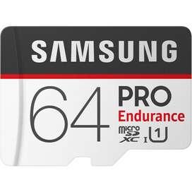 Samsung PRO Endurance Trarjeta de Memoria Microsdxc 64GB UHS-I Clase 10 U1 4K
