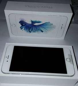 Iphone 6s Plus 32GB Silver Impecable Estado Original en Caja Completo