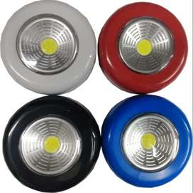 Linterna Redonda De Pared Led Aluminio a Pilas