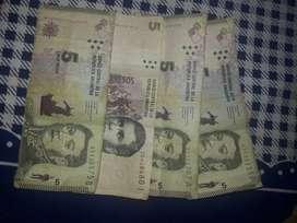 Billetes de $5