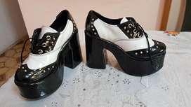 Hermosos Zapatos Acharolados Nro.35