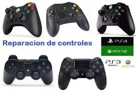 Reparamos joystick de xbox one PS4 y PS4