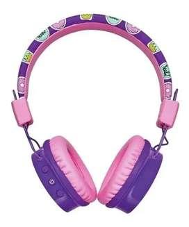 Audífonos Diadema Infantil Bluetooth Trust Comi Morado