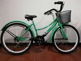 bicicleta playera con poco uso