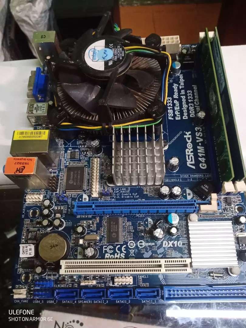Combo Board AsRock + Intel Core2Quad + 4GB RAM (leer bien descripción)