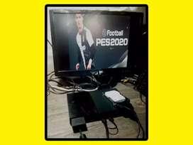 Playstation 2 completa 100 juegos chipeada juga por usb disco320gb 2 joysticks