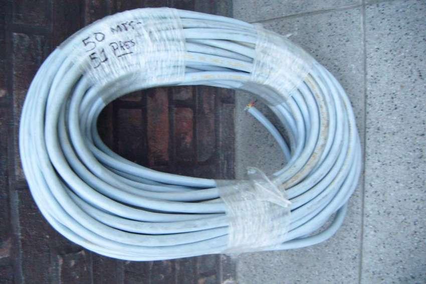 Cable de teléfono 50 metros 51 pares. 0
