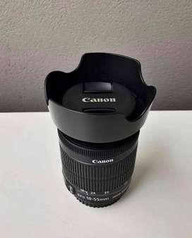 Lente Canon STM 18–55mm