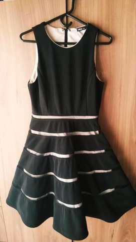 Vestido Negro Talla S Marca Ina