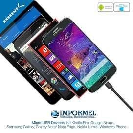 Cable Micro Usb V8 Carga Datos Samsung Nokia Sony Htc Resist