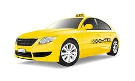 Chófer de taxi amarillo