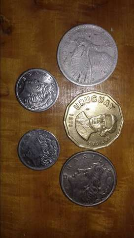 Monedas latinoamericanas.