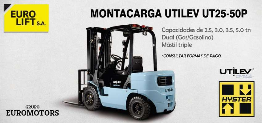 Montacarga UTILEV (HYSTER) de 2.5 tn DUAL 0