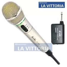 Microfono Para Karaoke Con Cable Y Sin Cable Facil De Usar