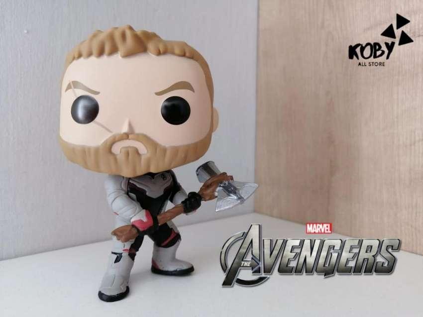 The Avengers - Funko Pop! Thor, Viuda Negra, Capitana Marvel, Ojo de Halcón, Hombre Hormiga, Nebula 0