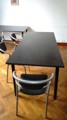 Mesa melamina negra