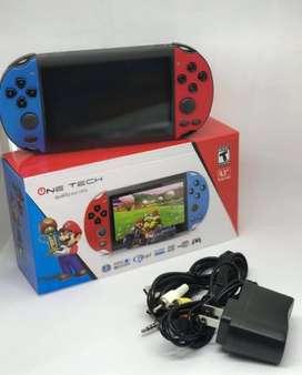 VIDEOJUEEGO PSP ONE TECH PSP MP5 RETRO - APROX 280 JUEGOS CAMARA Incluida - fácil y ligero de llevar
