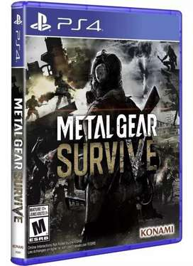 METAL GEAR SURVIVE PS4 FISICO NUEVO SELLADO