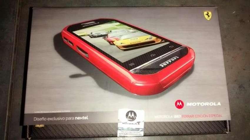 celular radio iden nextel i867 ferrari rojo edicion limitada 0