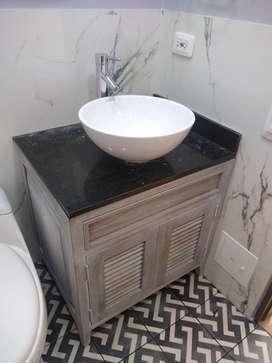 Muebles Lavamanos en Madera