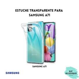 Estuche Para Samsung A71 Transparente Rígido