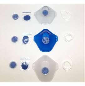 2 Tapabocas Mascarilla Respirador Reutilizable P95 (8filtros)