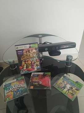 Kinect para xbox 360- 3 juegos