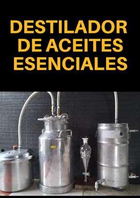 Destilador de aceites esenciales por arrastre de vapor