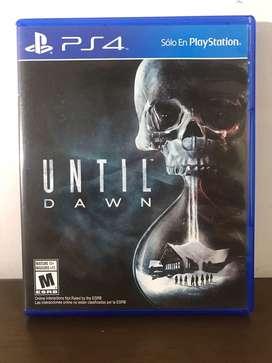 """Juego de PS4 en perfecto estado """"UNTIL DAWN"""" exclusivo de PS4"""
