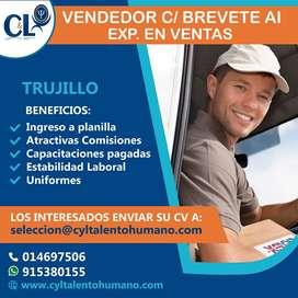 Se requiere Vendedor con Brevete AI / Trujillo
