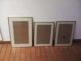 Vendo  cuadros o Marcos de aluminio dorados
