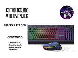 COMBO TECLADO Y MOUSE BLACK