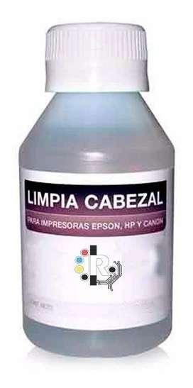 Liquido Solvente Limpia Cabezal 120 Ml Epson Hp Canon