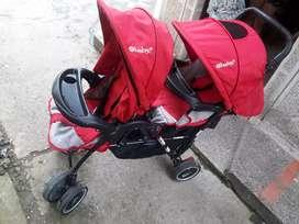 Coche gemelar o coche doble para 2 bebés