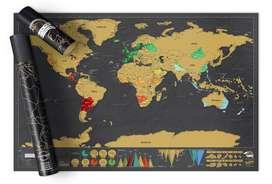 Mapamundi Deluxe para Raspar (Grande)