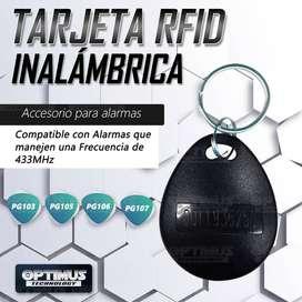 Accesorio para alarma - Tarjeta Llavero RFID inalámbrica para alarmas de frecuencias 433 MHz