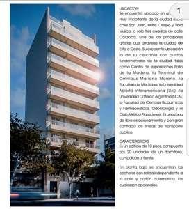 MB Negocios Inmobiliarios VENDE. SAN JUAN 3224. Dptos 1 dormitorio en construcción, externo, balcón.